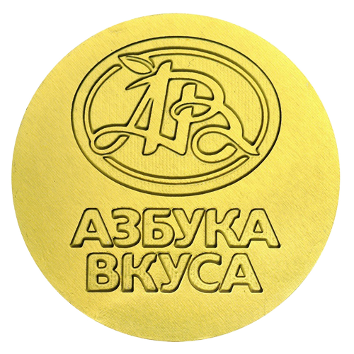 Chocolate coins with a logo