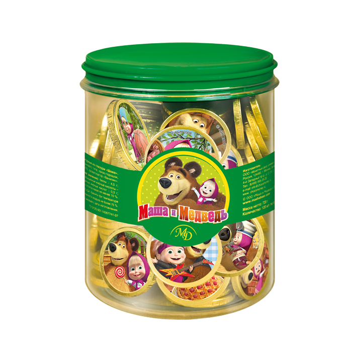 Chocolate coins «Masha and the Bear»