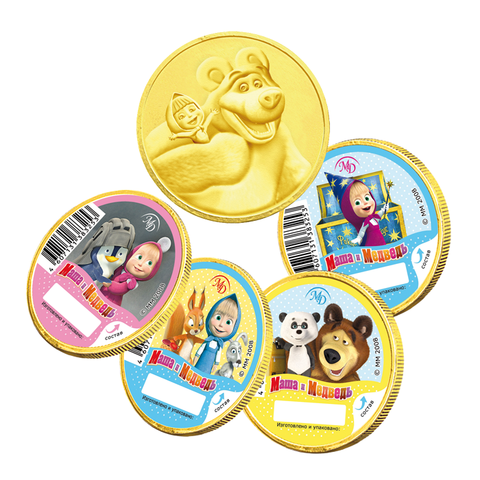 Medals 25gm «Masha and the Bear»